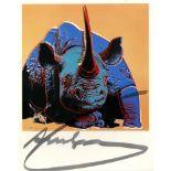 ANDY WARHOL - Black Rhinoceros - Original color offset lithograph