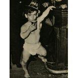WEEGEE [arthur h. fellig] - Shorty, the Bowery Cherub, New Year's Eve - Original vintage photogra...