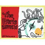KEITH HARING - The Paris Review - Original color silkscreen