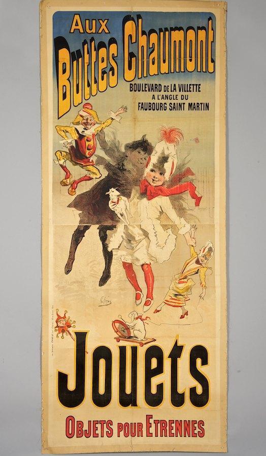 JULES CHERET - Aux Buttes Chaumont/Jouets - Original vintage color lithograph
