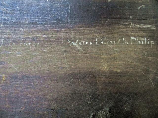 JOHN LAFARGE - Water Lilies - Oil on panel - Image 5 of 9