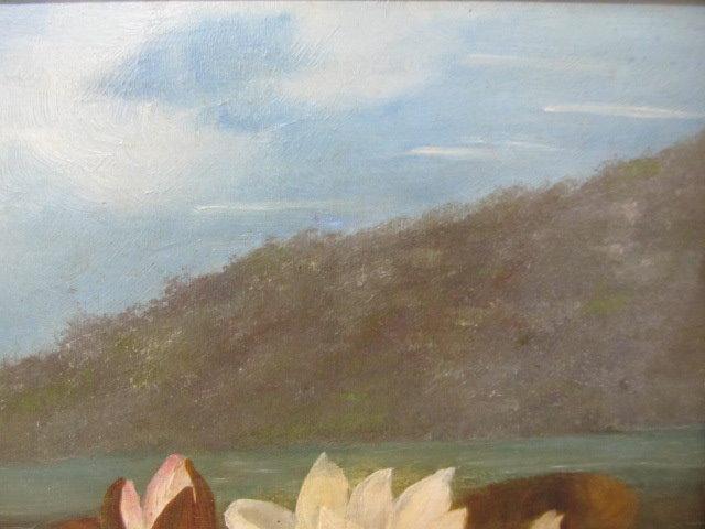 JOHN LAFARGE - Water Lilies - Oil on panel - Image 8 of 9