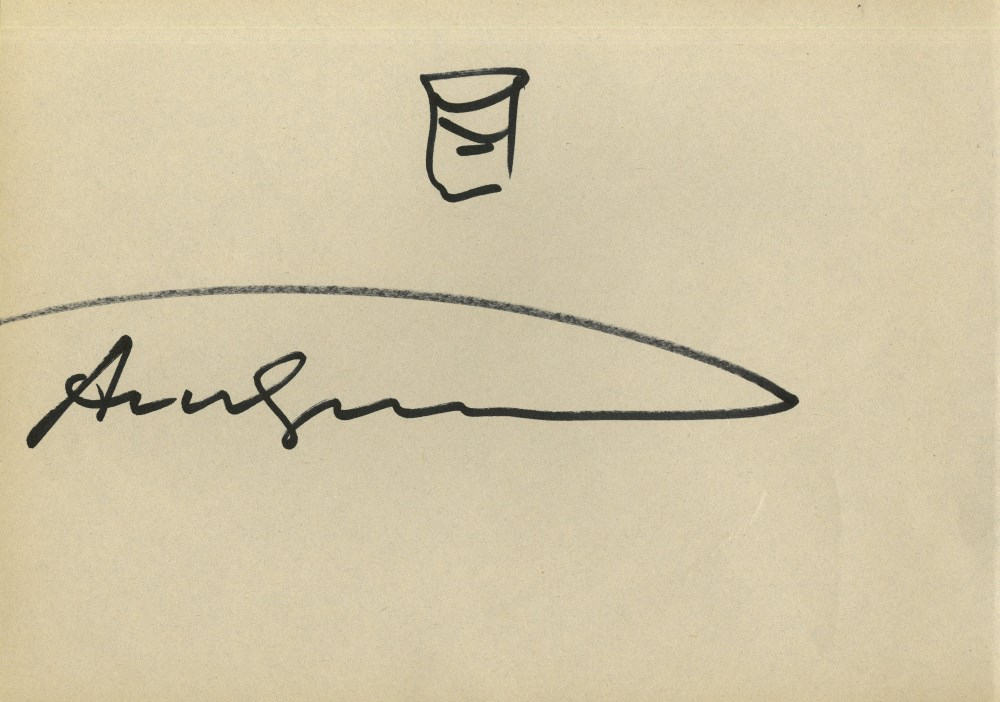 ANDY WARHOL - Campbell's Soup Can #3 - Marker drawing on paper