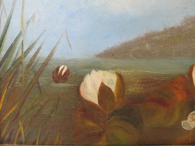 JOHN LAFARGE - Water Lilies - Oil on panel - Image 7 of 9