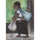 DIEGO RIVERA - Pepenadora con Niño - Watercolor on paper