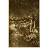 EDWARD S. CURTIS - The Maid of Dreams - Original vintage sepia toned photogravure
