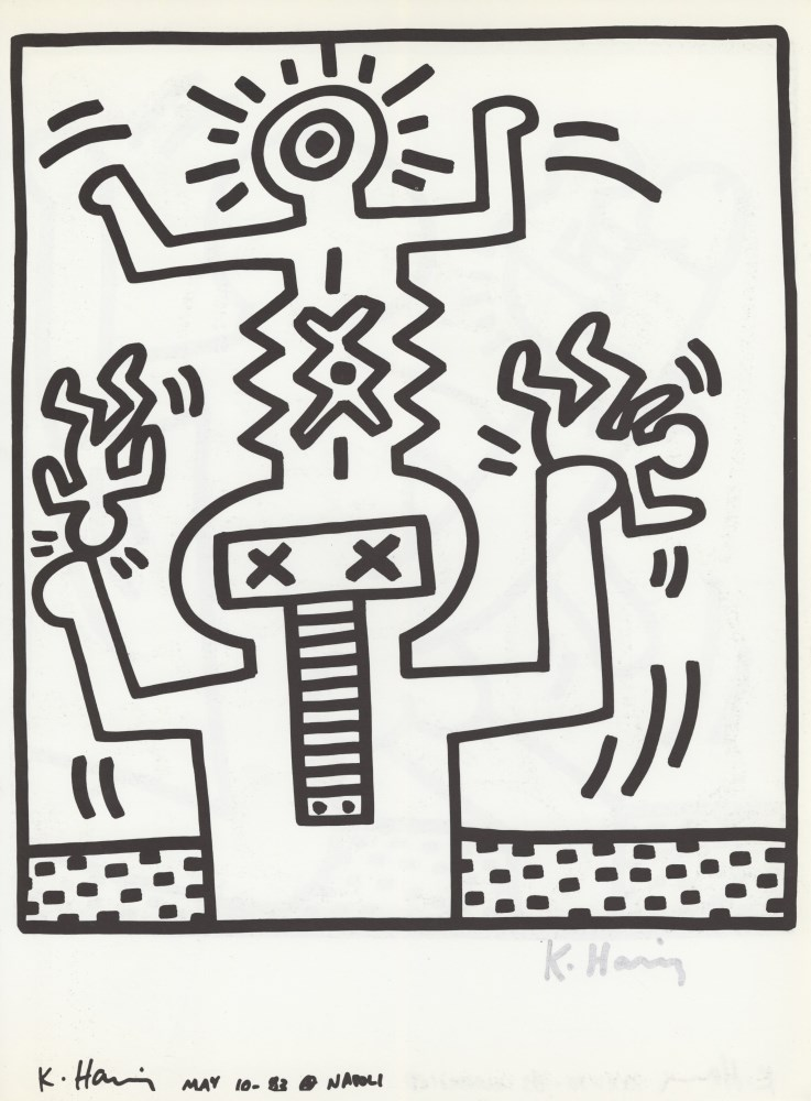 KEITH HARING - Naples Suite #25 - Lithograph