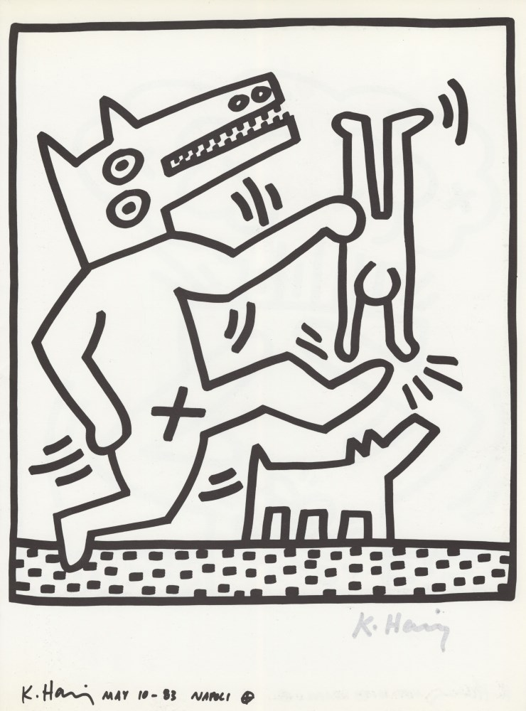 KEITH HARING - Naples Suite #17 - Lithograph