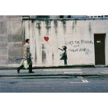 BANKSY - Balloon Fight - Color offset lithograph