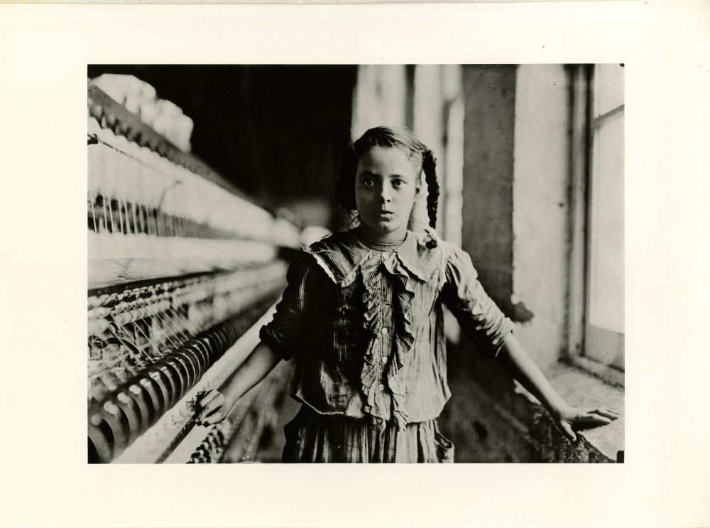 LEWIS HINE - Ten Year Old Adolescent Girl, a Spinner in a North Carolina Cotton Mill - Original p...