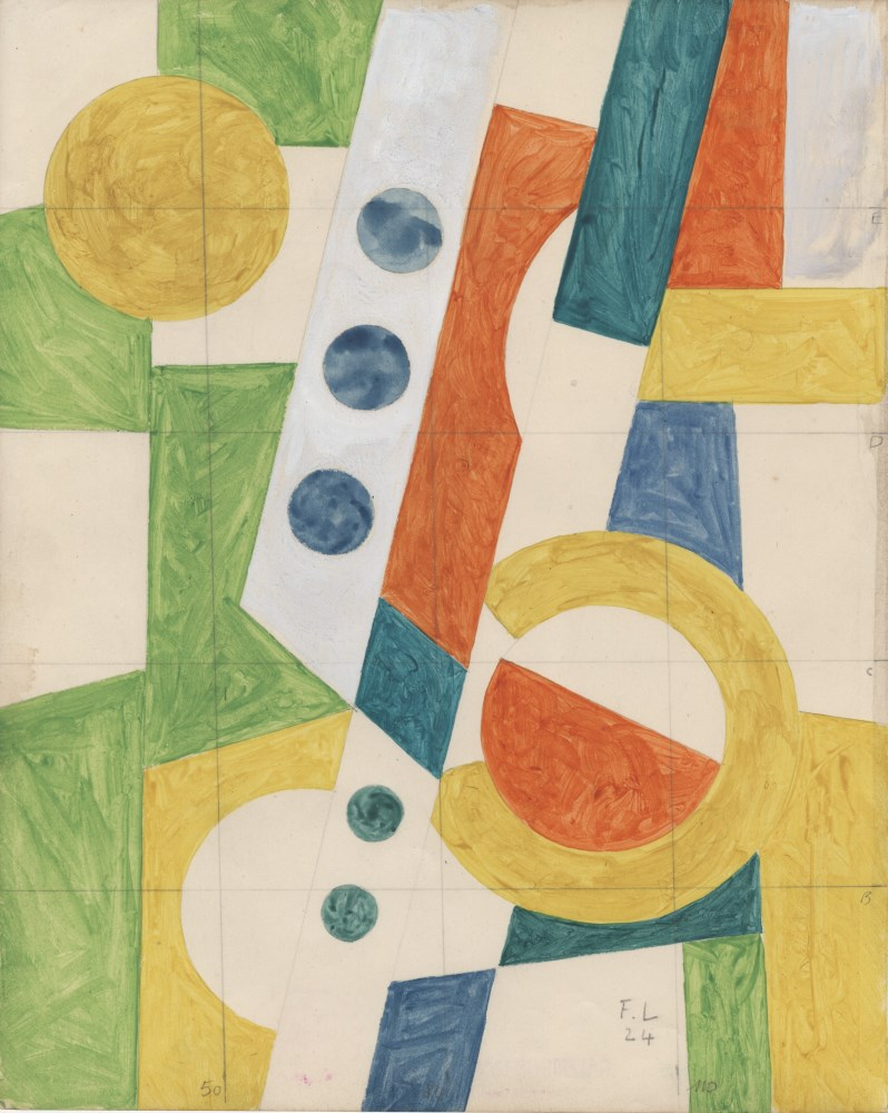 FERNAND LEGER - Les disques - 1924 - Gouache and pencil drawing on paper
