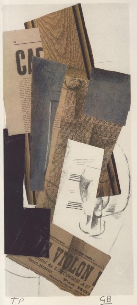 GEORGES BRAQUE - Composition (Violon) - Original color collotype