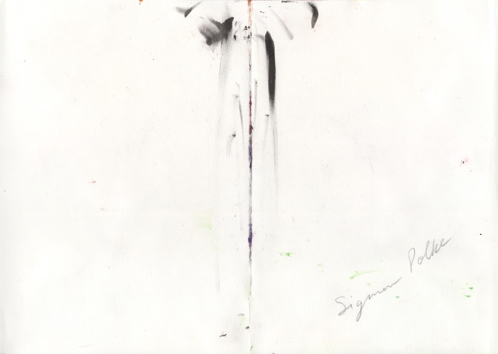 SIGMAR POLKE - Untitled Rorschach Blot - Gouache and watercolor on paper - Image 2 of 2