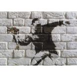 BANKSY - Flower Thrower - Color offset lithograph