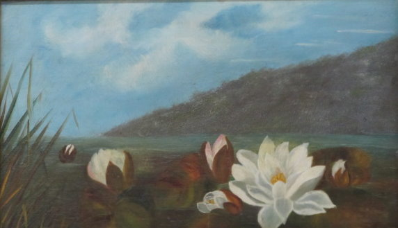 JOHN LAFARGE - Water Lilies - Oil on panel - Image 2 of 9