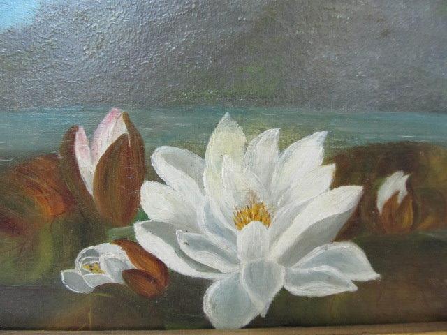 JOHN LAFARGE - Water Lilies - Oil on panel - Image 9 of 9