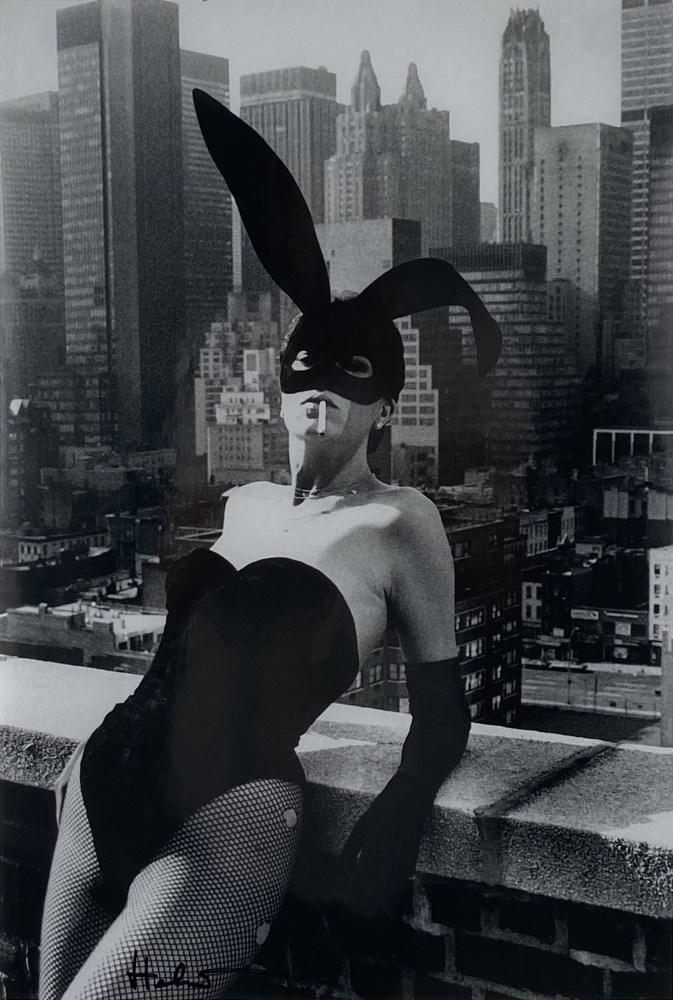 HELMUT NEWTON - Elsa Peretti As a Bunny, New York #2 - Original photolithograph