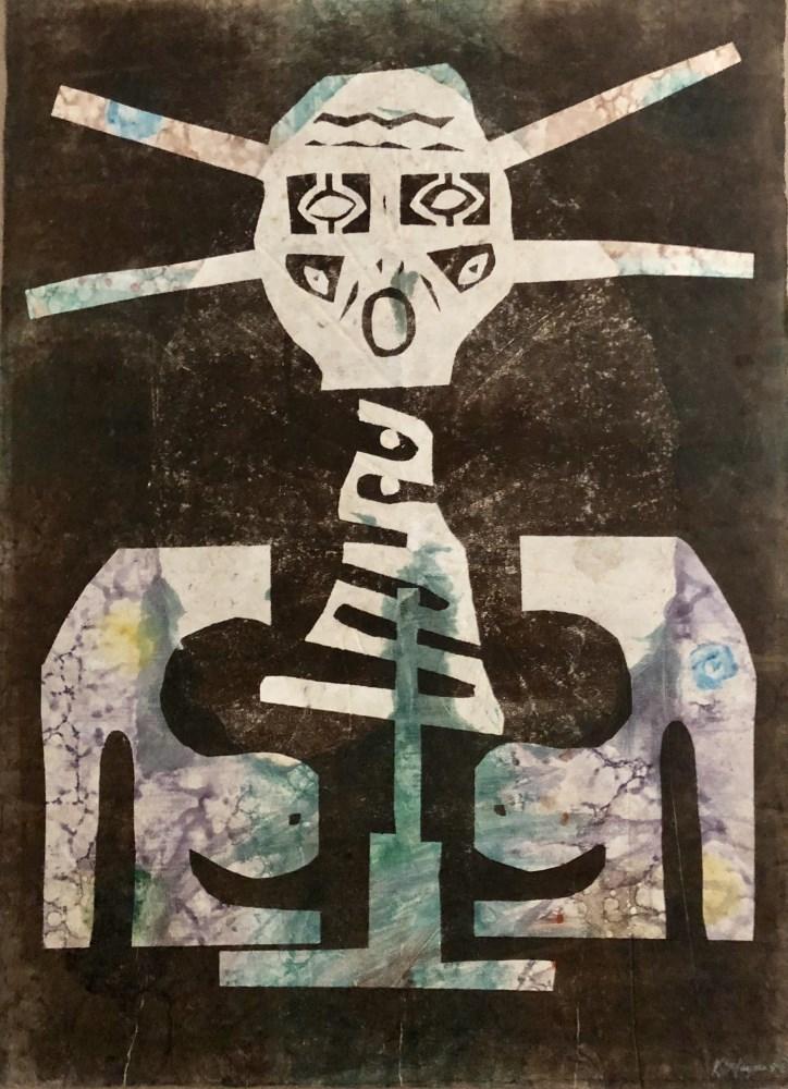 KARIMA MUYAES - Woman Shaman - Color Monoprint