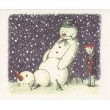 BANKSY - Rude Snowman - Color offset lithograph