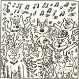 KEITH HARING - Ten Cats - Lithograph
