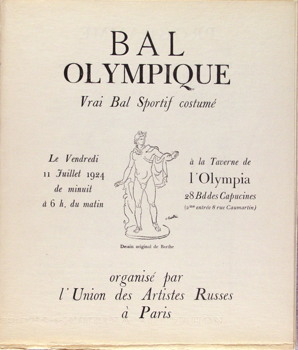 PABLO PICASSO - Bal Olympic: Vrai bal sportif costume (Programme) [Picasso *one original lithogra... - Image 2 of 10