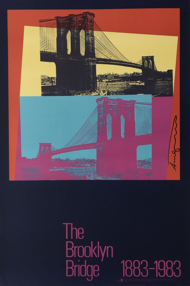 ANDY WARHOL - The Brooklyn Bridge #1 - Original color silkscreen