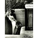 HELMUT NEWTON - Maitresse et chauffeur, Paris - Original photolithograph