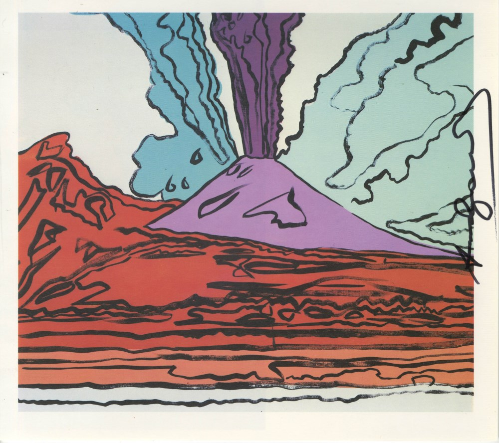 ANDY WARHOL - Vesuvius #10 - Color offset lithograph