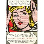 ROY LICHTENSTEIN - Vicki! I -- I Thought I Heard Your Voice! - Color offset lithograph