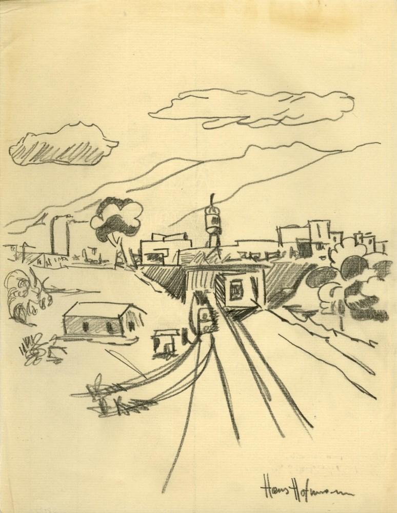 HANS HOFMANN - Landscape - Pencil drawing on paper