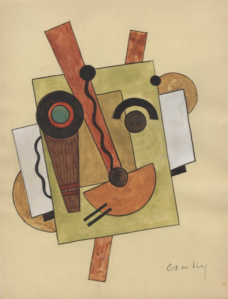 JOSEPH CSAKY - Composition - Watercolor and ink drawing on paper