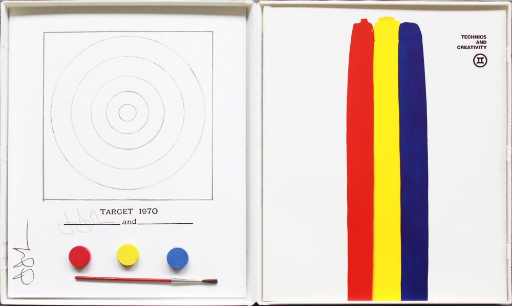 JASPER JOHNS - Technics and Creativity II - Target 1970 - Color offset lithograph