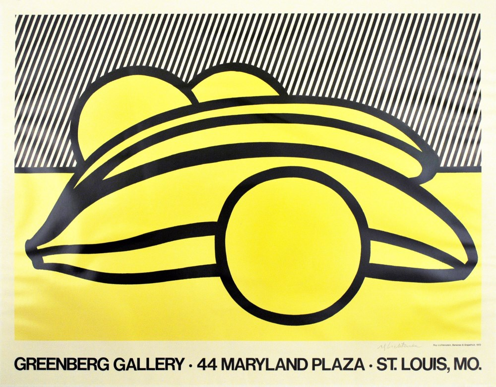 ROY LICHTENSTEIN - Bananas and Grapefruit - Color offset lithograph