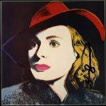 ANDY WARHOL - Ingrid Bergman: With Hat (06) - Color offset lithograph