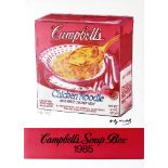 ANDY WARHOL - Campbell's Soup Box - Original color offset lithograph