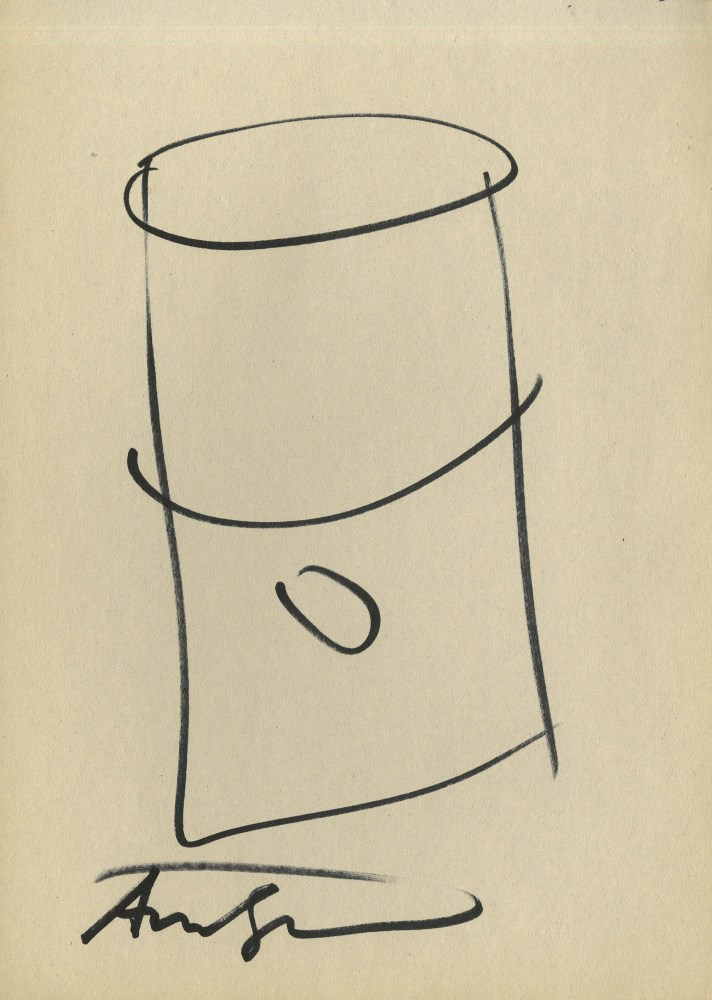 ANDY WARHOL - Campbell's Soup Can #2 - Marker drawing on paper