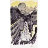 PIERRE BONNARD - Rue vue d'en haut - Original color lithograph