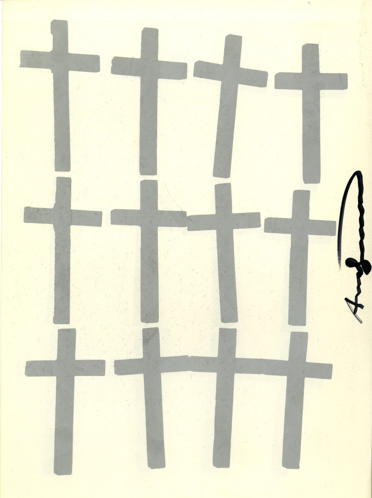 ANDY WARHOL - Crosses #4 - Color lithograph