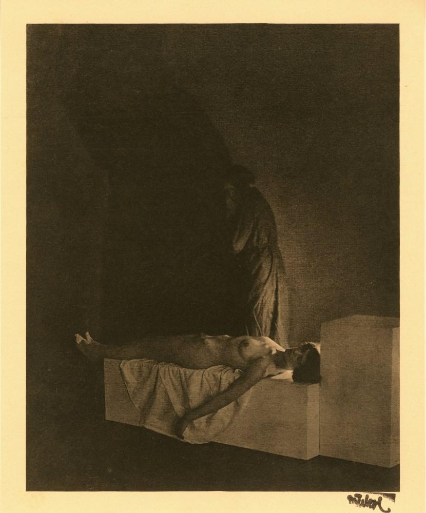 FRANTISEK DRTIKOL - La mort - Original vintage photogravure