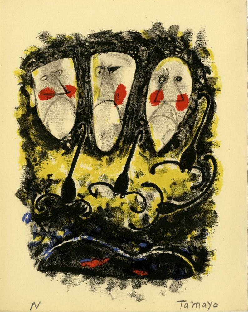 RUFINO TAMAYO - Tres Mascaras y Tres Alacranes - Color lithograph