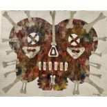 KARIMA MUYAES - Mystic - Collage wth acrylic on Mexican amate bark paper