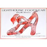 ANDY WARHOL - Lighthouse Footwear Reptile Shoes - Original color offset lithograph