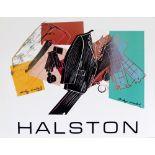 ANDY WARHOL - Halston Men's Wear - Original color silkscreen and lithograph