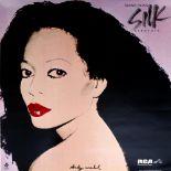 ANDY WARHOL - Diana Ross x 1 - Original color offset lithograph