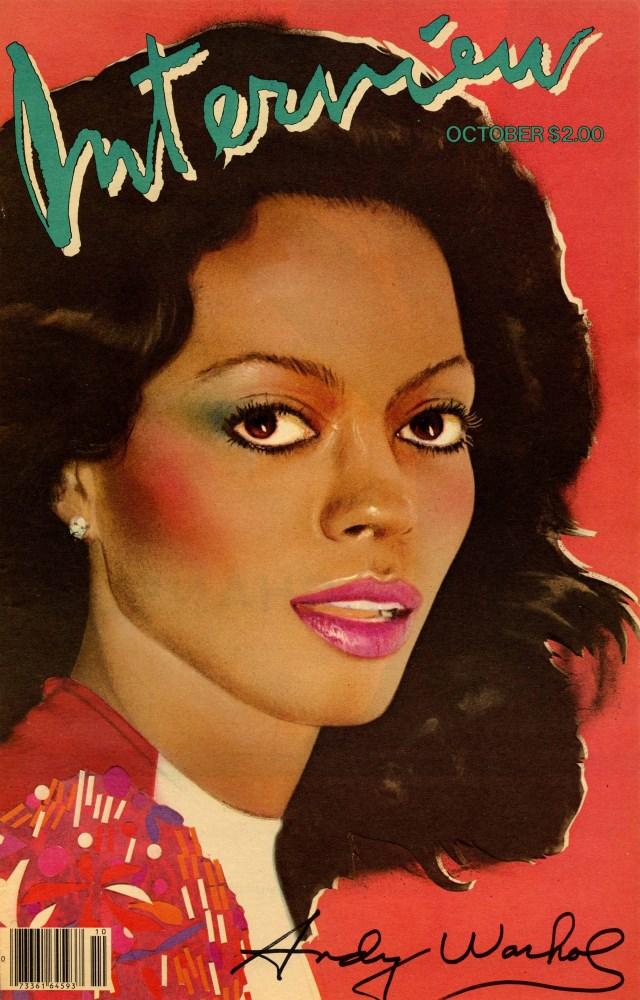 ANDY WARHOL - Diana Ross - Original color offset lithograph