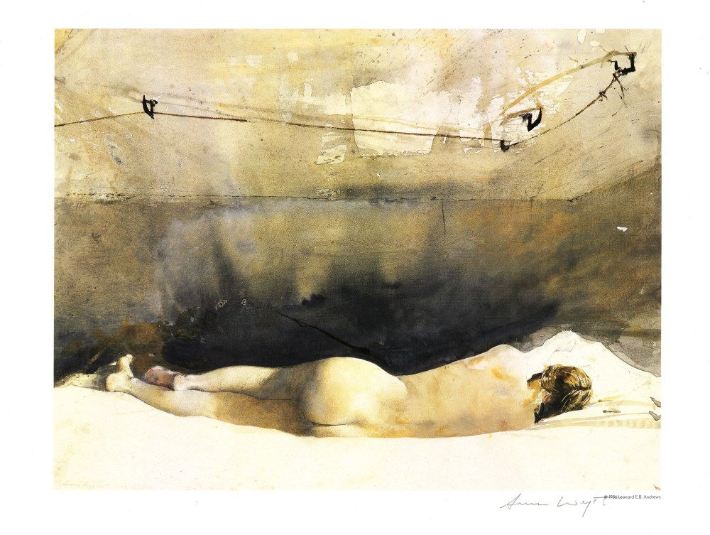 ANDREW WYETH - Study for Barracoon - Color offset lithograph