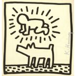 KEITH HARING - Radiant Baby & Dog - Lithograph
