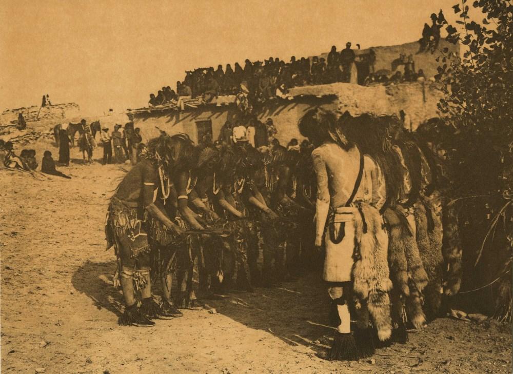 EDWARD S. CURTIS - Antelopes and Snakes at Oraibi - Original sepia-toned photogravure