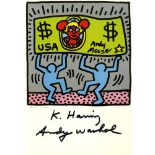 KEITH HARING & ANDY WARHOL - Andy Mouse II, Homage to Warhol - Color offset lithograph
