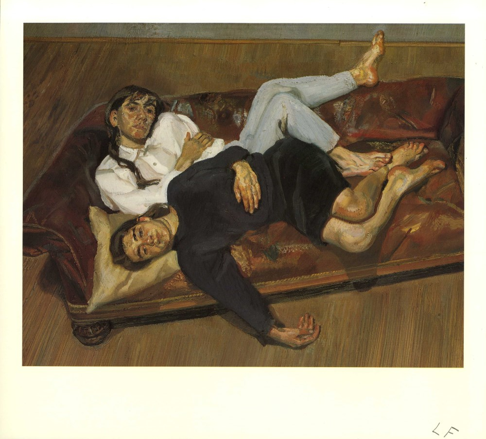 LUCIAN FREUD - Bella and Esther - Color offset lithograph